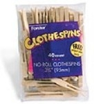 Forster - FOR2473 - Flat No-Roll Clothespins (40/Bag) (Popsicle Stick Crafts)