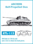 Friulmodel Track Link Sets - 1/35 Archer Self-Propelled Gun Tank Track Link Set (230 Links) (Plastic Models)