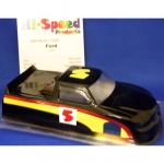 "Hi-Speed - HSPPBNJK71162B - Painted JK Ford 4"" Truck Body in .010 lexan (slot car)"