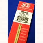 "K&S - KS8150 - 3/32 OD Square Brass Tube. 3/32x.014x 12"" long (Metal Tubing)"
