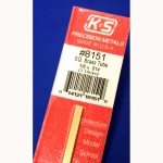 "K&S - KS8151 - 1/8 OD Square Brass Tube. 1/8x.014x 12"" long (Metal Tubing)"