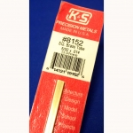"K&S - KS8152 - 5/32 OD Square Brass Tube. 5/32x.014x 12"" long (Metal Tubing)"