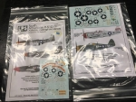 LPS - LPMCL - 2 set of decals - LPM72-13, LPM72-16 - Designed for 1/72 Tamiya Kit (model plane)