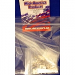 MID-AMERICA - MAR262JR-BL - STAINLESS JR DRAGSTER SHORTY W/ CLEAR LEXAN BODY (slot car)