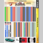UltraCal - UCD3104 - Utracal - Racing Stripe Decals - High Definition Racing Decals for 1:64 scale (slot car)
