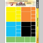 UltraCal - UCD3105 - Ultracal Racing Window Tint Decals 1:64 HO Scale (slot car)